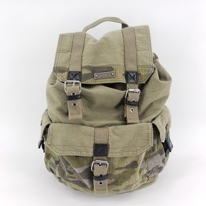 Roxy army green & camouflage backpack bag
